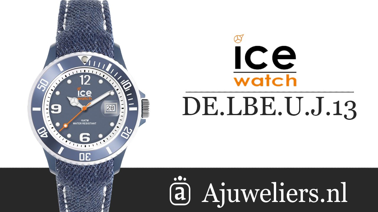 Ice Watch DE.LBE.U.J.13 ICE-DENIM horloge - Ajuweliers.nl - YouTube 736a47f834