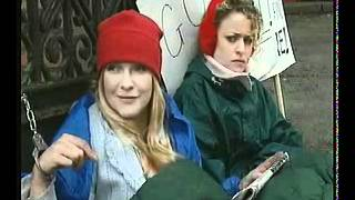Andrée Bernard Hollyoaks Comedy Liz protests in the village with Sophie N.I.M.B.Y. Thumbnail