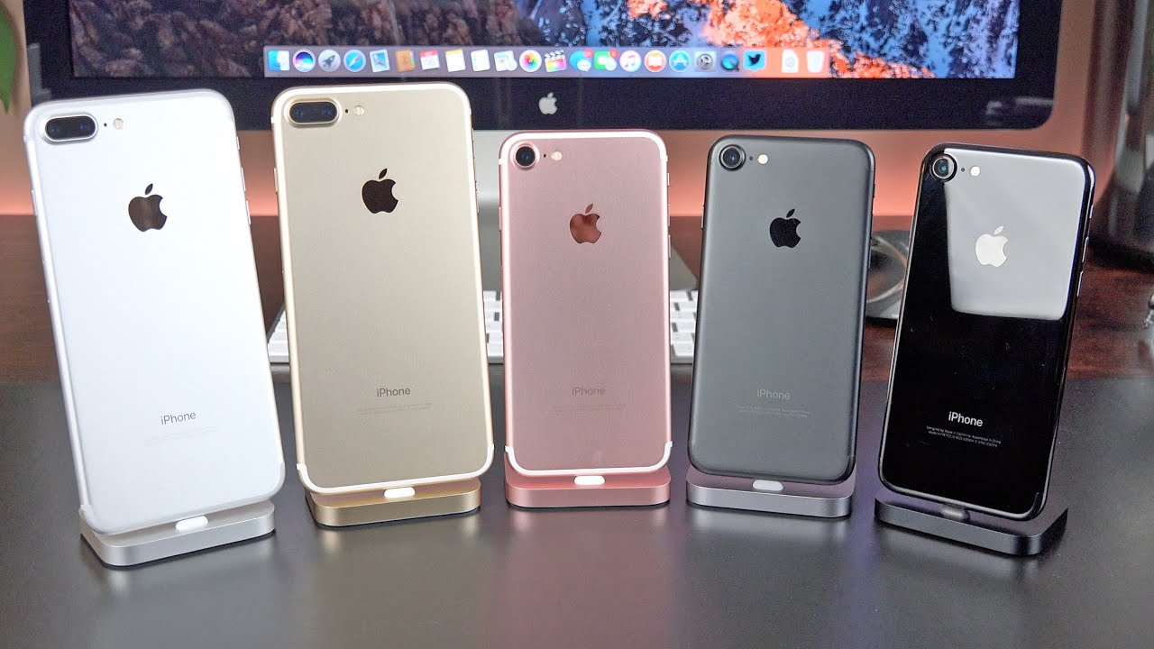 Apple iPhone 7 vs 7 Plus: Unboxing & Review (All Colors) - YouTube