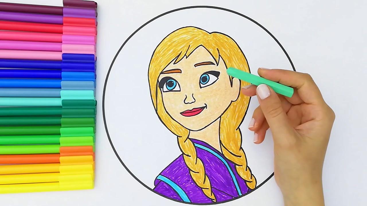 Elsa Cizgi Film Boyama Elsa Resimler Boyamalar Youtube