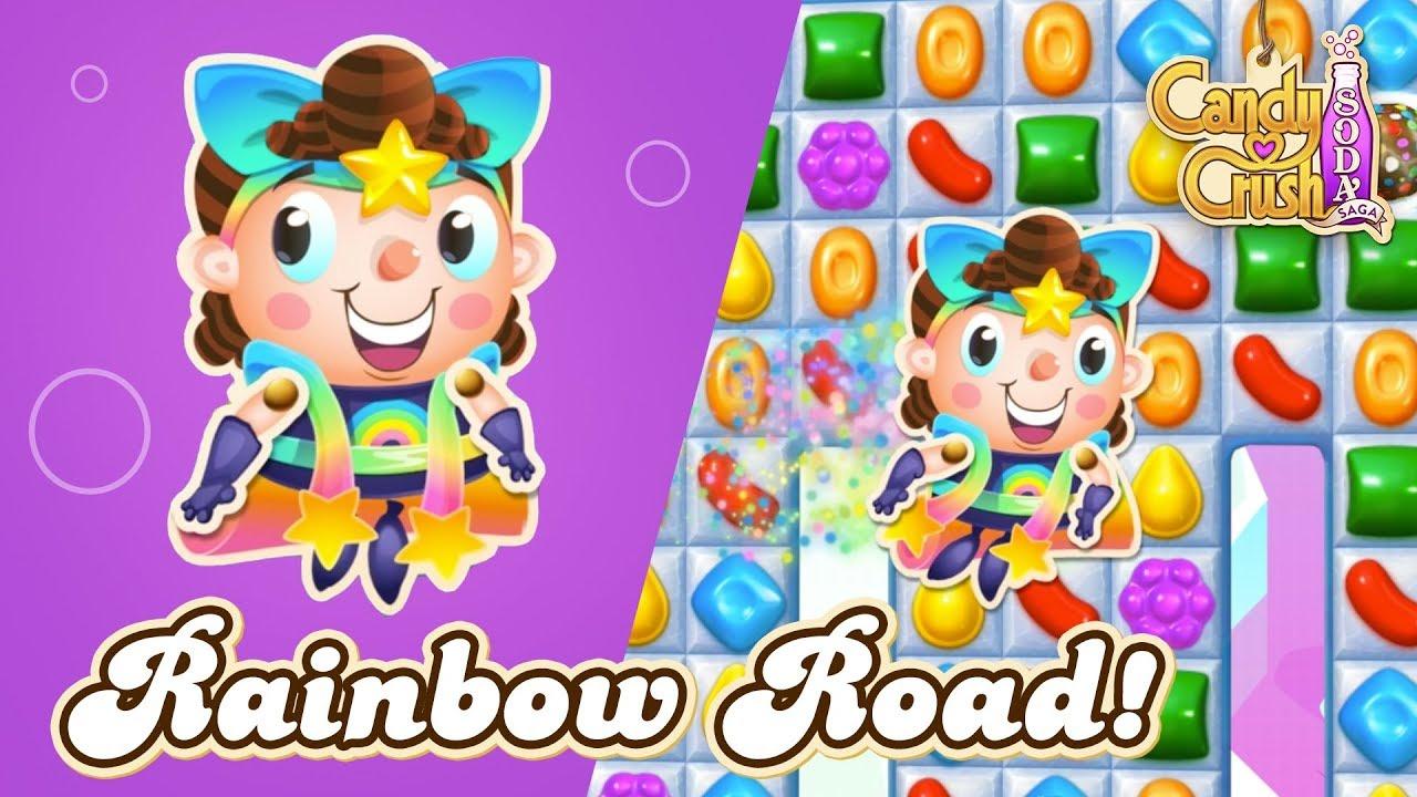 Candy Crush Sofa Rowe Sleeper Replacement Mattress Soda Saga Succeed In Rainbow Road Youtube
