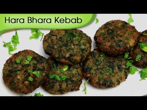 Hara Bhara Kebab - Vegetarian Kebab - Starter Snacks Recipe By Ruchi Bharani [HD]