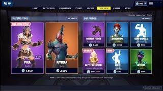 NEW* Flux Emote and Flytrap Skin (Back) ! Fortnite Item Shop January 19, 2019
