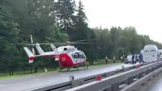 Новости ДТП Москва - Жёсткая авария из 4 авто на 60-ом км Киевского шоссе