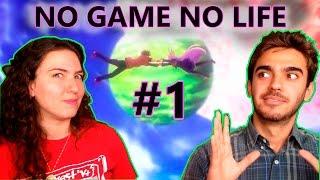 NO GAME NO LIFE episódio 1 - REAÇÃO