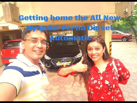Getting home the all new Hyundai Verna Diesel Automatic