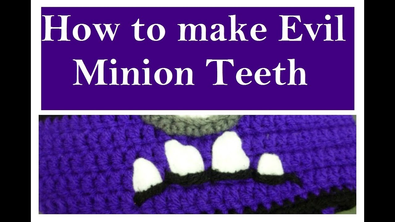 Evil Minion Teeth | How to make them | Video Tutorial - YouTube