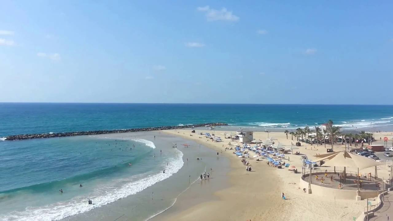 Netanya Beach شاطئ نتانيا Youtube