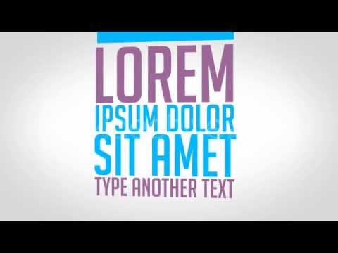 kinetic typography promo after effects videohive template youtube. Black Bedroom Furniture Sets. Home Design Ideas