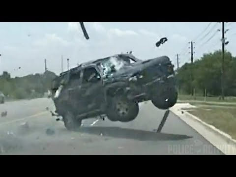 Woman Ejected After Her SUV Rolls Over During Intense Police Chase