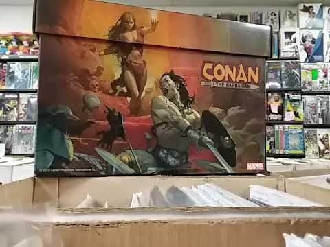 MY NEW COMIC BOOK HAUL 1/09/19 plus a look at Marvel's latest full art short box featuring CONAN!