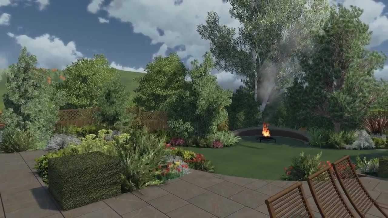 Sloping Garden By Cedar Nursery Landscape Design Youtube
