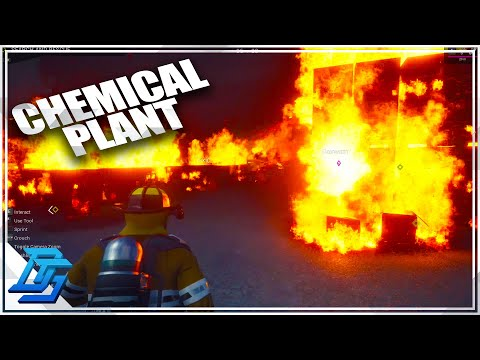 BIGGEST FIRE IN GAME? CHEMICAL PLANT FIRE!  - Firefighting Simulator : The Squad Gameplay - Part 4 |