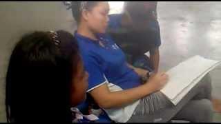 girls learning language sabah dusun