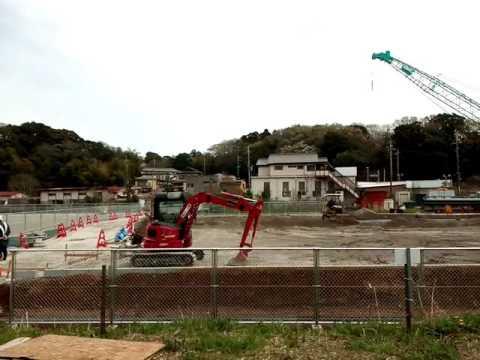 船橋市立夏見運動公園増設駐車場工事中
