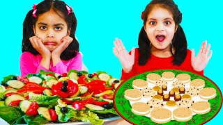 Ashu and Cutie Learn to Eat Healthy Food and Pretends School Pack Lunch Box