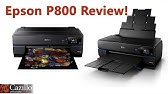 Epson SureColor P800 Ink Installation & Charging - YouTube
