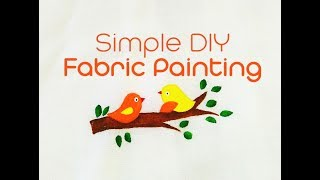 Fabric painting on new born baby dress (DIY fabric painting 2018)