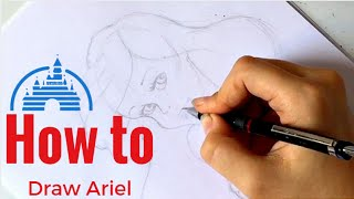 How to draw Ariel. (For beginners)
