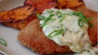 Crispy Pork Cutlets With Creamy Jalapeno Green Onion Gravy - Pork Schnitzel With Country Gravy