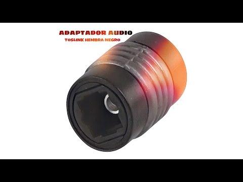 Video de Adaptador audio toslink hembra  Negro