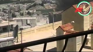 تدÙ...ير دبابة في حاجز جبل الأربعين - Tank Explosion