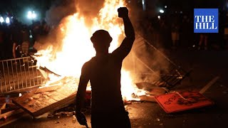 CAPITAL CHAOS: Rioters clash with police, fires set near White House as protests escalate