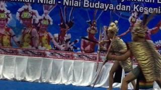 warrior dance by Kayan kids of Borneo