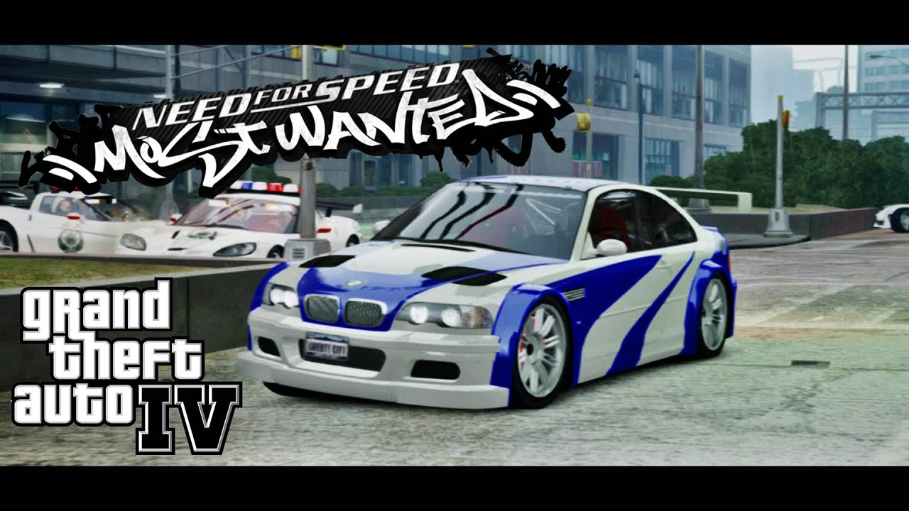 Gta Iv Bmw M3 Need For Speed Most Wanted 2005 Style