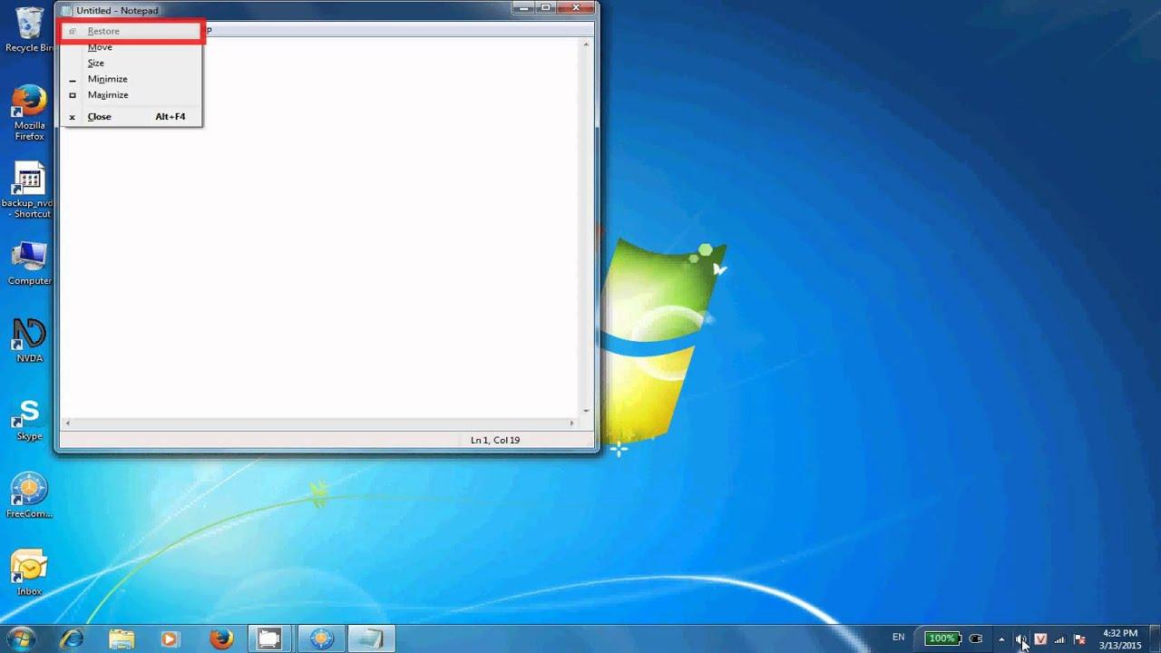 Bài 7: Thao tác trên cửa sổ ứng dụng