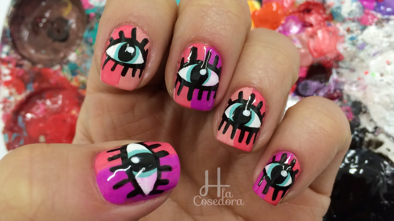 Decoracion de u as con ojos eyes nail art youtube - Decoracion de unas ...