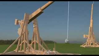 Rendered Trebuchet Autocad + 3ds Max Design