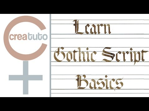 Learn Gothic Script Basics Writing In Igraphy
