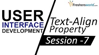 learn ui ux development css session 7 ii css text align property guide for ui developers