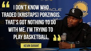 "Warriors Kevin Durant: ""Let us play basketball. That's all I'm saying."""