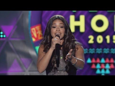 Gina Rodriguez Raps for Ludacris at Teen Choice Awards 2015!