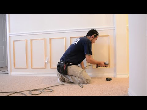 Picture Frame Moulding Below Chair Rail Weekend Warrior Chairs How To Install And Youtube
