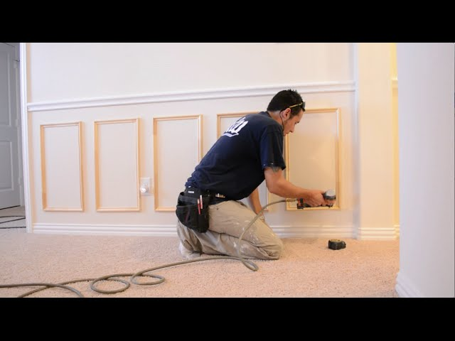 How To Install Chair Rail And Picture Frame Moulding Youtube