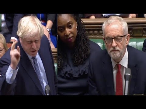 Furious Boris Johnson humiliates Jeremy Corbyn, rages at Labour's Brexit LIES and gets long APPLAUSE