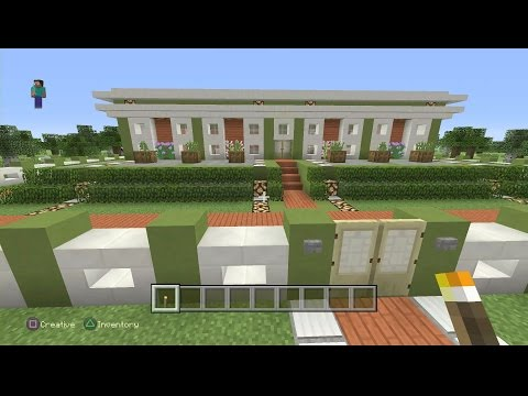 Minecraft PS4 - NIRVANA - Modern Mansion with Acacia & Quartz [0211]