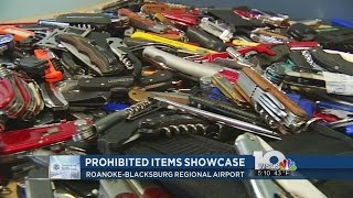 Roanoke Airport Displayed Prohibited Items