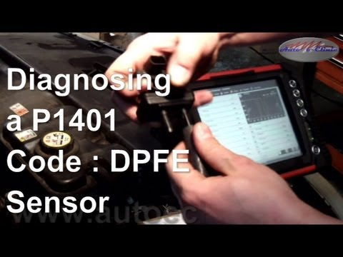 diagnose  repair  p code dpfe sensor