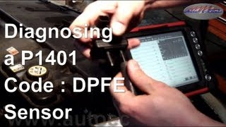 how to diagnose and repair a p1401 code dpfe sensor lincoln towncar