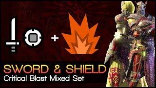 Monster Hunter World ▼ Teostra's Critical Blast | Mixed Set (Sword & Shield Build)