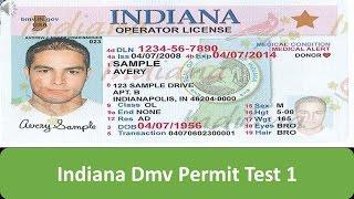 Indiana DMV Permit Test 1