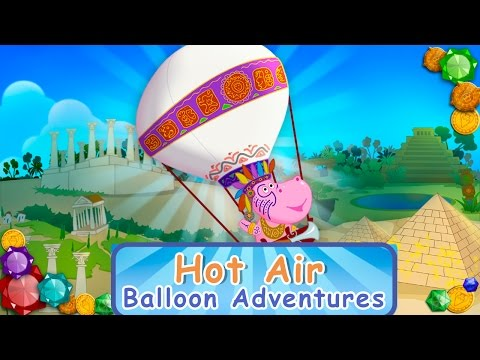 Hippo 🌼 Hot Air Balloon Adventures 🌼 Cartoon Game For Kids