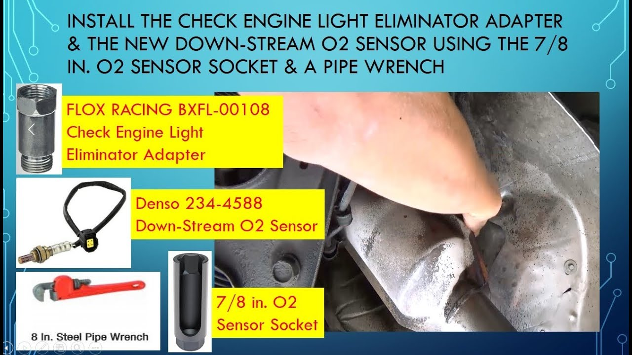 P Code Fixed W Down Stream O2 Sensor Cel Eliminator