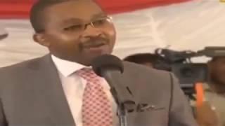 RAILA ODINGA SPEECH AT JOSEPH KAMARU'S BURIAL, Uhuru and Ruto Present