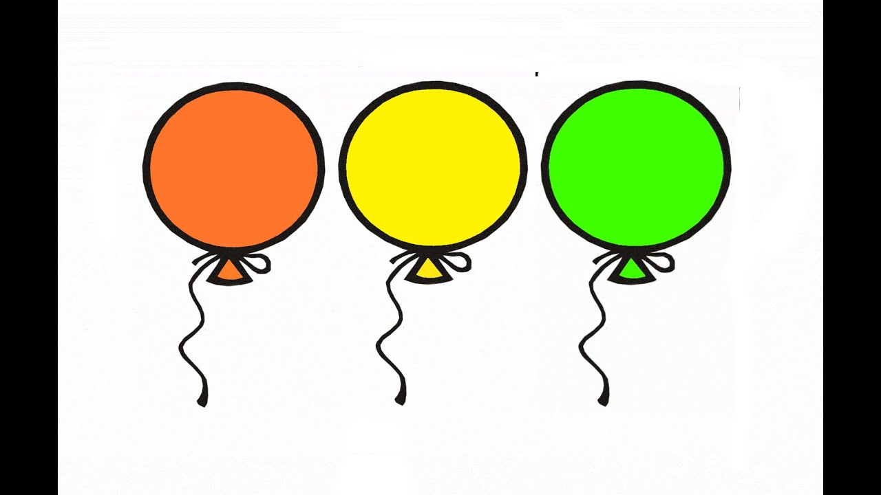 Learn Colours For Children With Balloons Colouring Pages