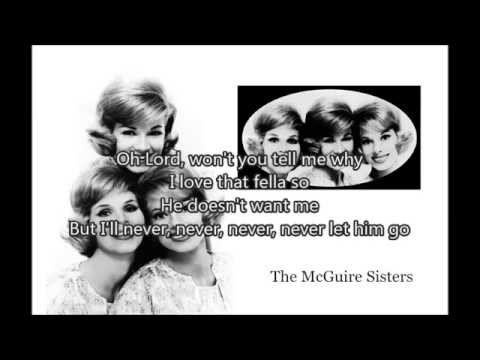 THE MCGUIRE SISTERS - Sincerely (1958) with lyrics